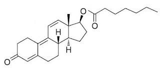 formula estrutura quimica enantato trembolona