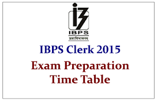 Preparation Time Table and Planning for IBPS Clerk V Examination