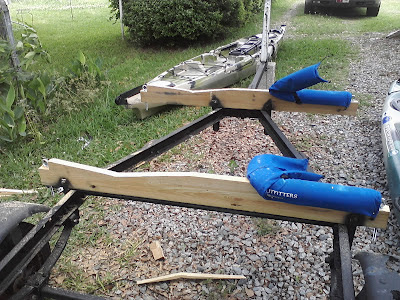 My Kayak Trailer Build 1 1 Yakangler