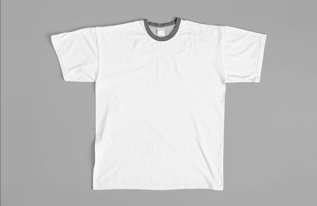 Mockup psd crew neck t shirt mock up fonxat gfx for Mock crew neck shirts