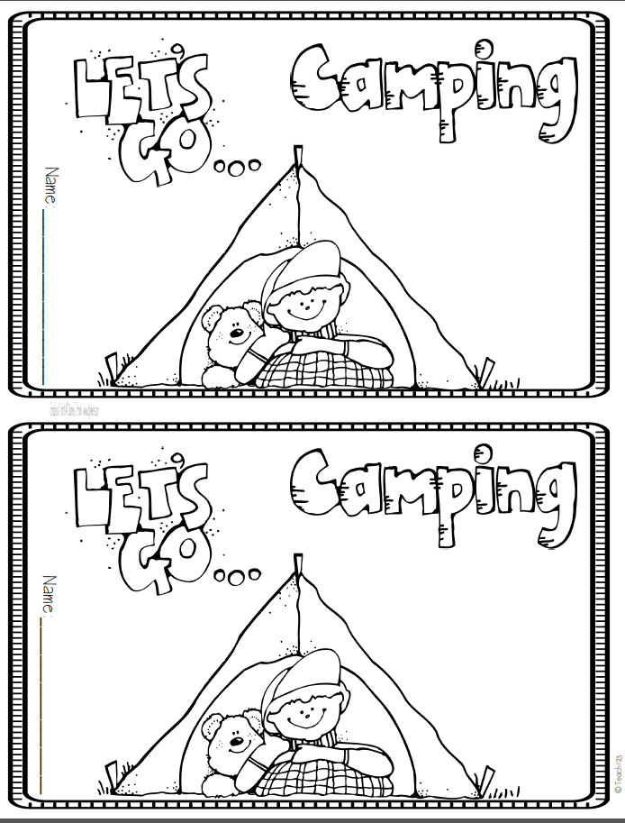 It's just a picture of Crazy Coloring Pages Camping Theme