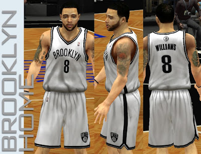NBA 2K13 Brooklyn Nets Home Jersey Patch