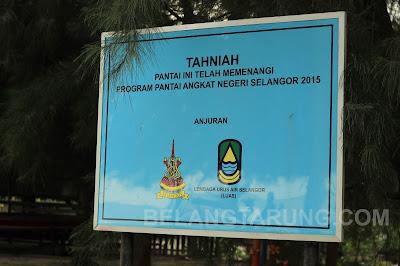 Pantai Cunang Menang Anugerah Pantai Angkat Negeri Selangor 2015