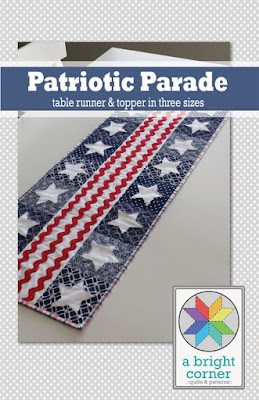 Patriotic Parade table runner pattern by A Bright Corner