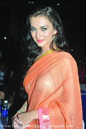 Amy Jackson Hot Saree Stills