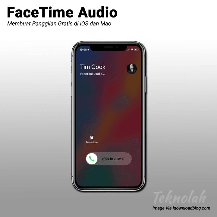 FaceTime audio di iPhone