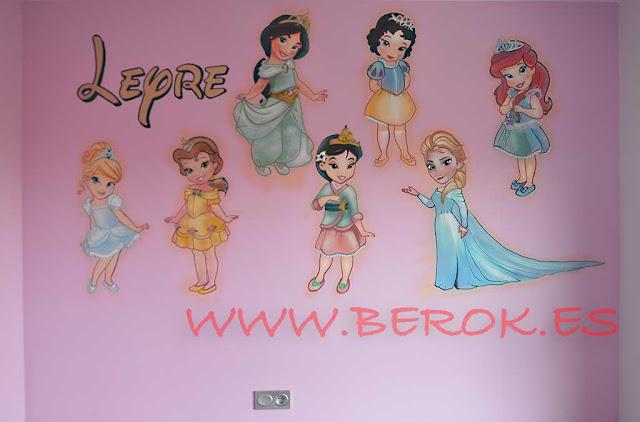 Graffiti infantil princesas Disney para niña
