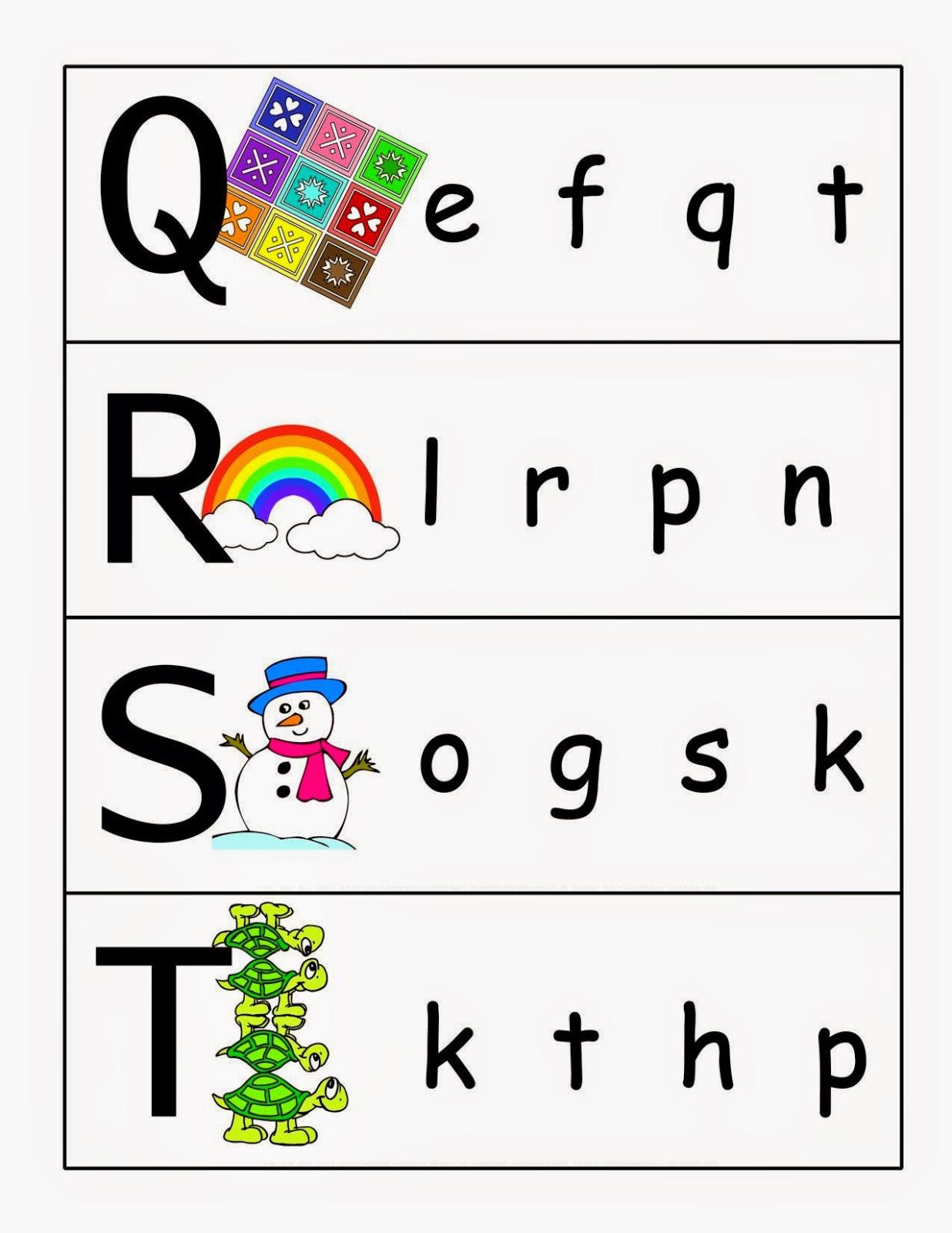 Kindergarten Worksheets: Match upper case and lower case ...