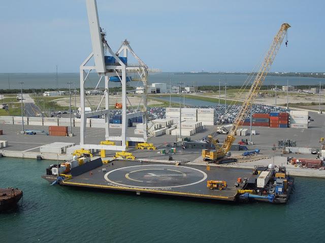 SpaceX landing barge