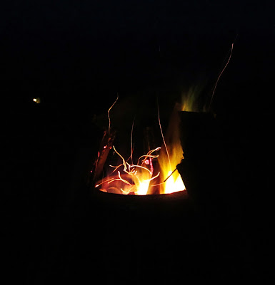 saunanpata, roskan poltto, ilta, tuli, nuotio