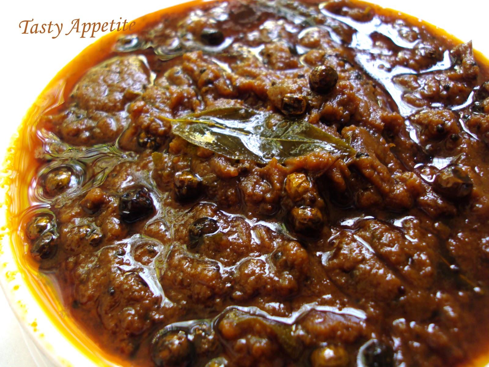 South Indian Vathakuzhambu Thokku Recipe Sundried Black Night
