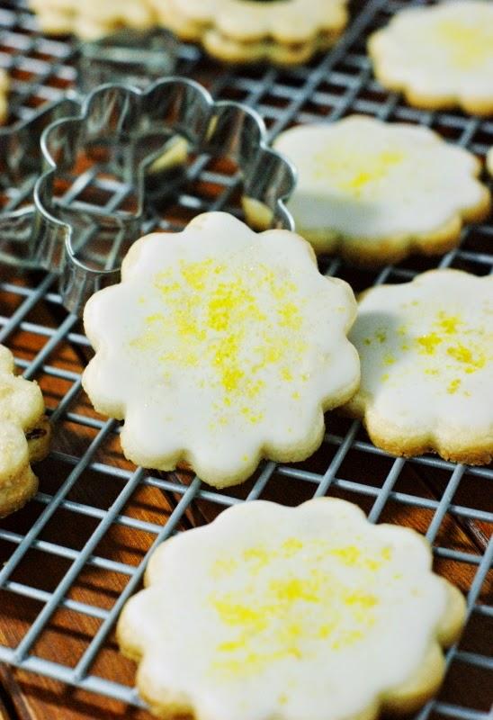 Lemon Glazed Butter Cookies