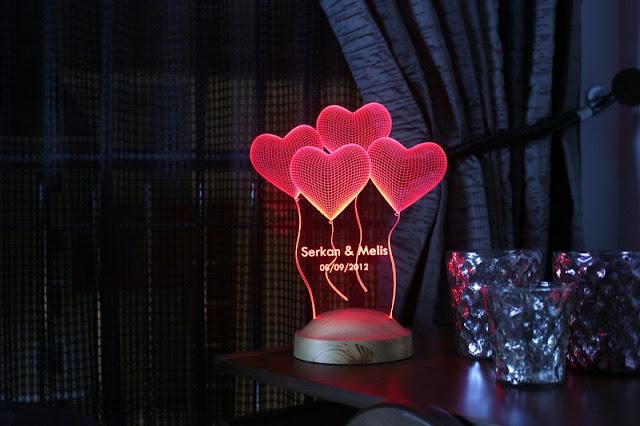 romantik gece lambası