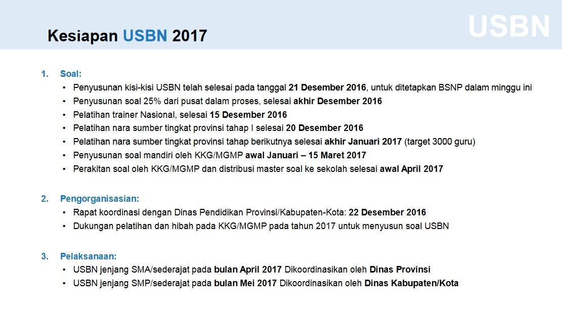 Mekanisme Amp Kebijakan Pelaksanaan Ujian Nasional 2017 Pelajar Indonesia
