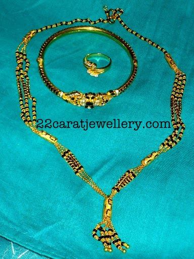 22 carat Nallapusalublack beads Jewellery  Jewellery Designs