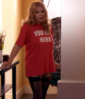 """YOU ARE HERE"" T-shirt as worn by Billie Piper. PYGear.com"