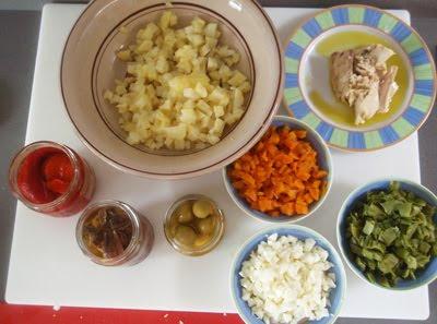 ingredientes para ensaladilla rusa