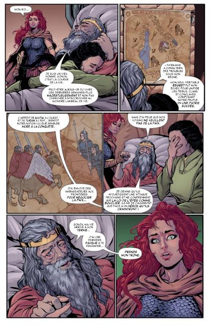 Red Sonja : le trône du faucon aux éditions Graph Zeppelin page 10