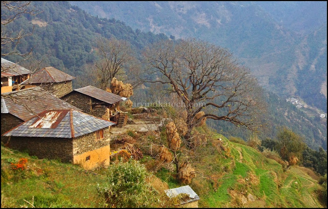 Hill Village, Hill top, Village, Himachal Pradesh, Baijnath