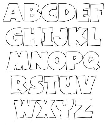Abecedario Letras Do Alfabeto Para Imprimir