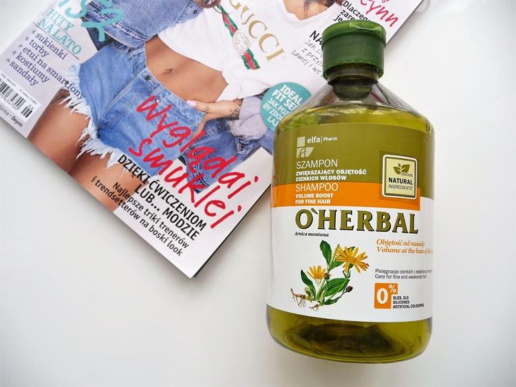 szampon o'herbal zwiększający objętość