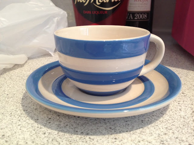 Cornishware cup and saucer