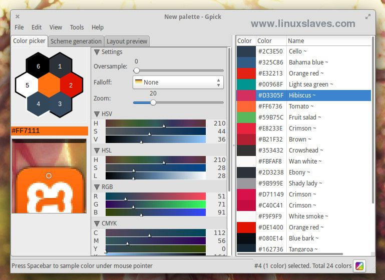 Gpick and Pick, Simple Color Picker Tools for Your Linux Desktop ...