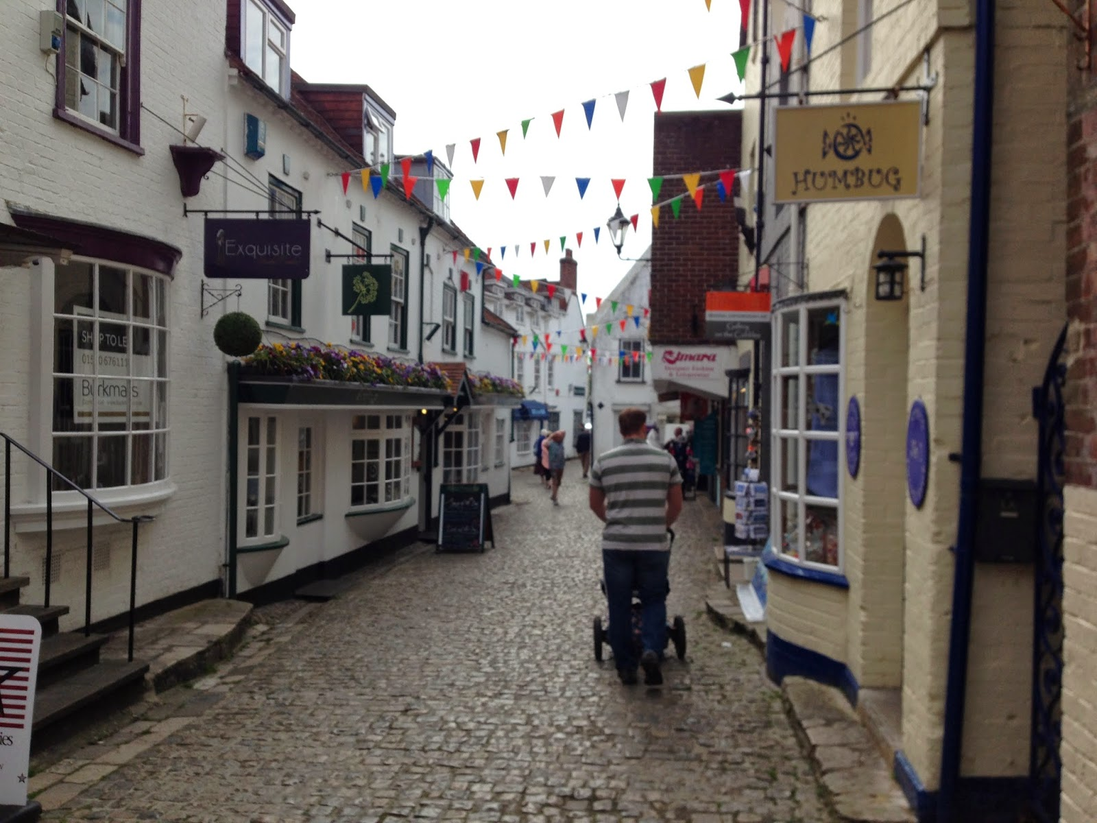 The street down to Lymington harbour