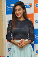 Shravya in skirt and tight top at Vana Villu Movie First Song launch at radio city 91.1 FM ~  Exclusive 38.JPG