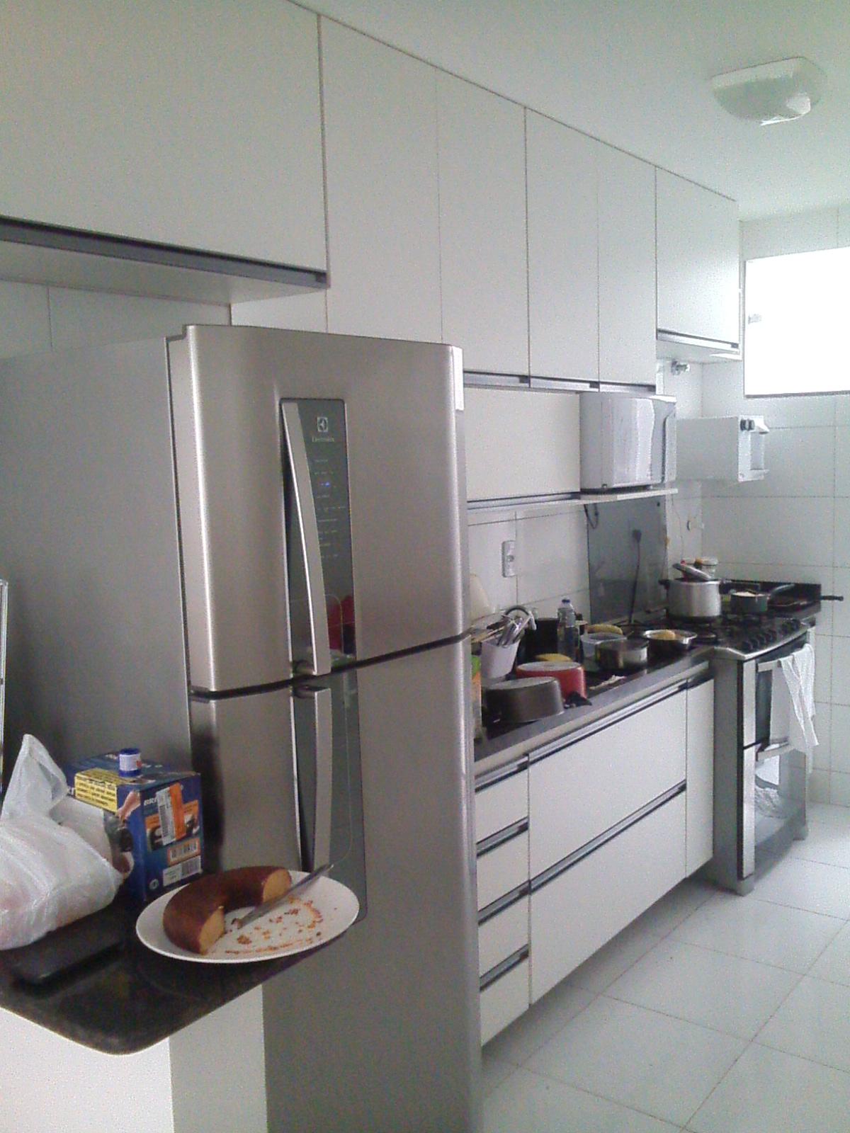 Cozinha Em MDF branco TX #614A44 1200 1600