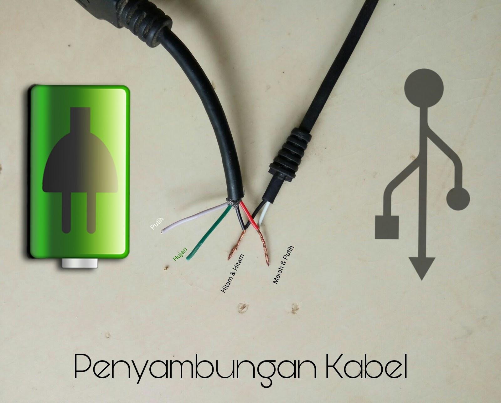 Menyambung Atau Modifikasi Kabel Power Charger Hitam Putih Dengan