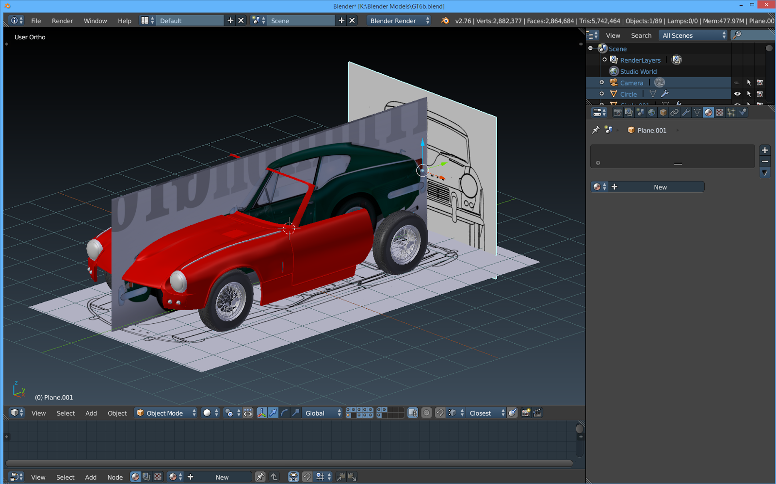 The tinkers workshop blender triumph gt6 model progress like the other blender car models that ive worked on this one is not much different in its construction the blueprint layout of the sides front malvernweather Images