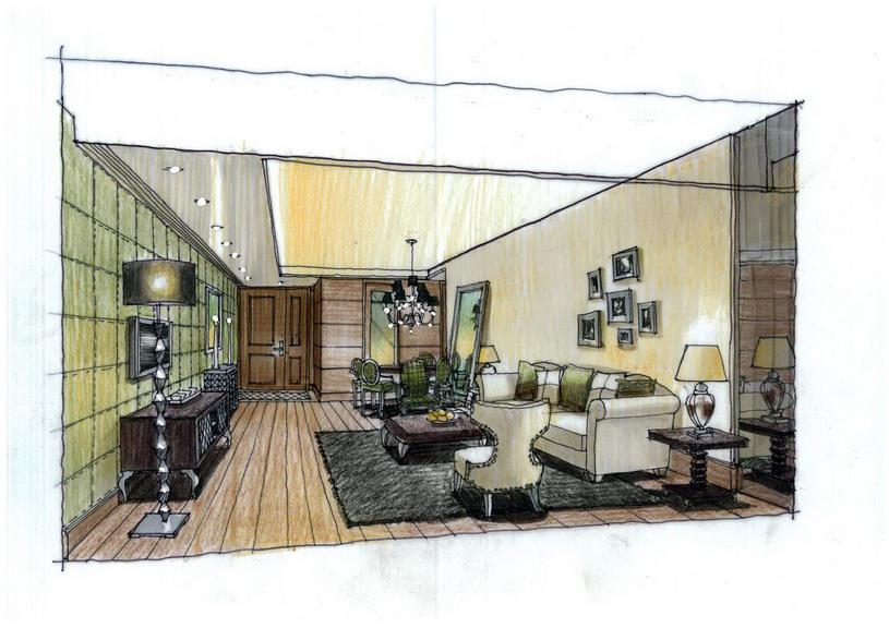 YreneC Interior design: Hand drawings