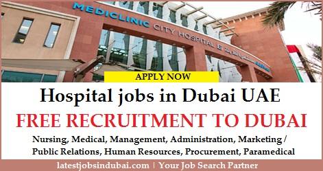 Hospital jobs in Dubai UAE