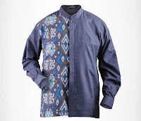 Alfamind Baju Koko Batik Aitana Olive Navy ANDHIMIND