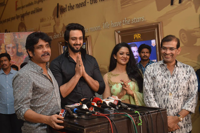 Celebrities at Om Namo Venkatesaya Premiere at Cinemax
