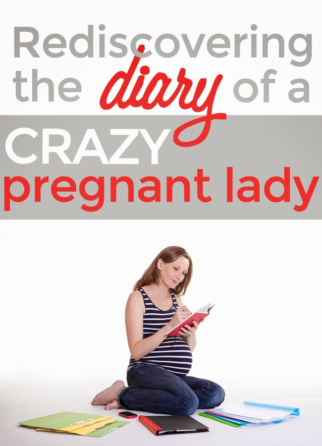 Funny reflections on stupid things I wrote in my first pregnancy journal! by Robyn Welling @RobynHTV