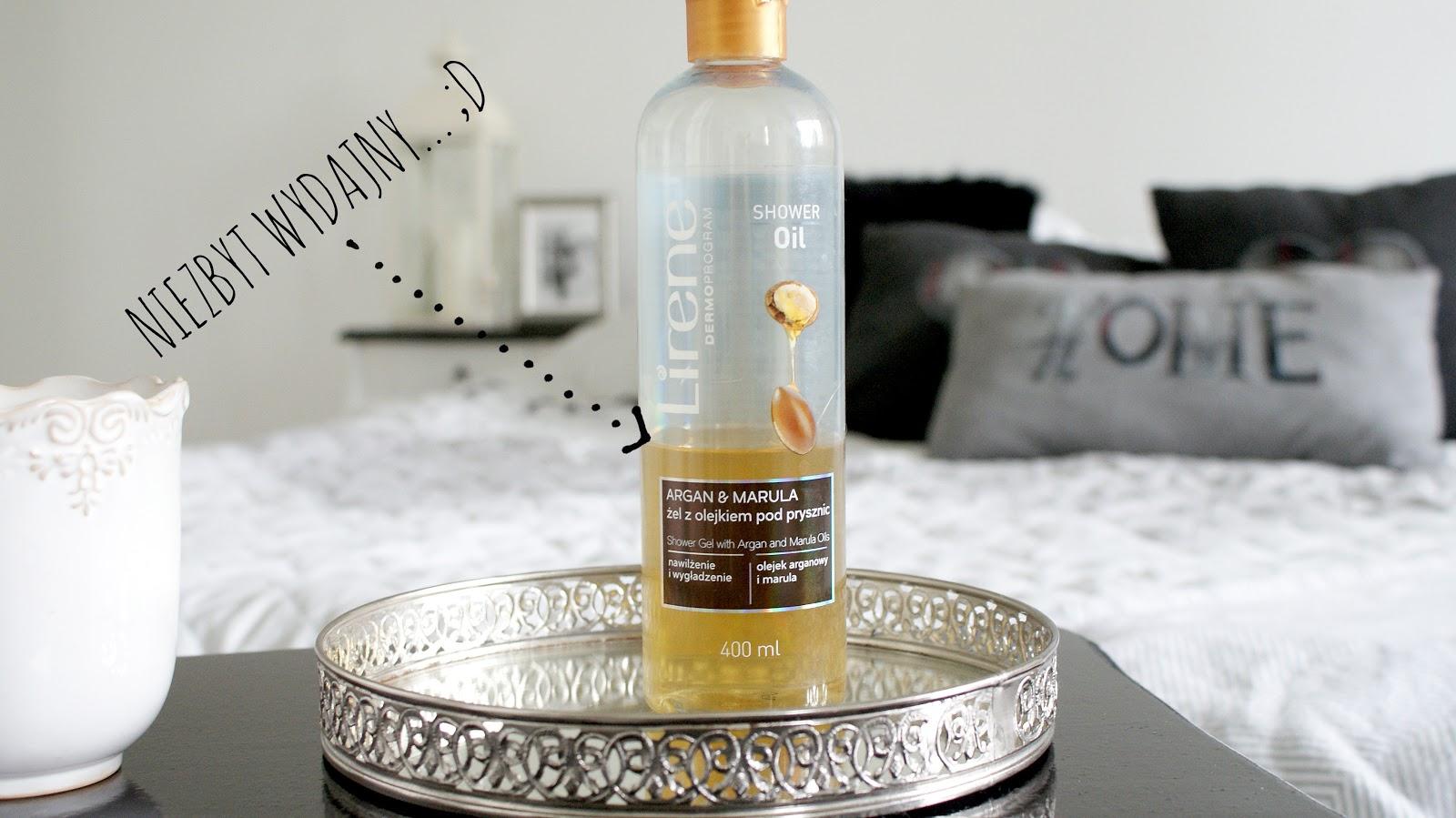 lirene, żel pod prysznic, olejek marula, olejek arganowy,