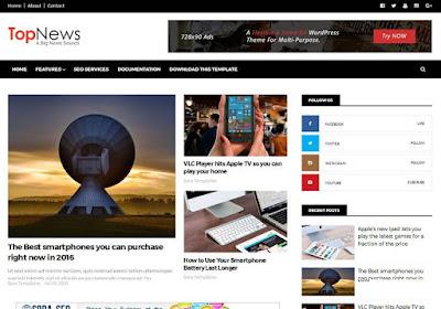 Top News Blogger Teması
