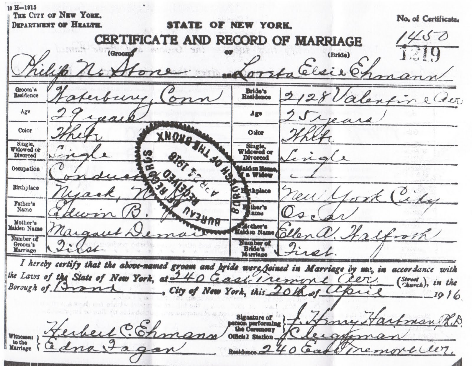 New York State Marriage Certificate Free Professional Resume