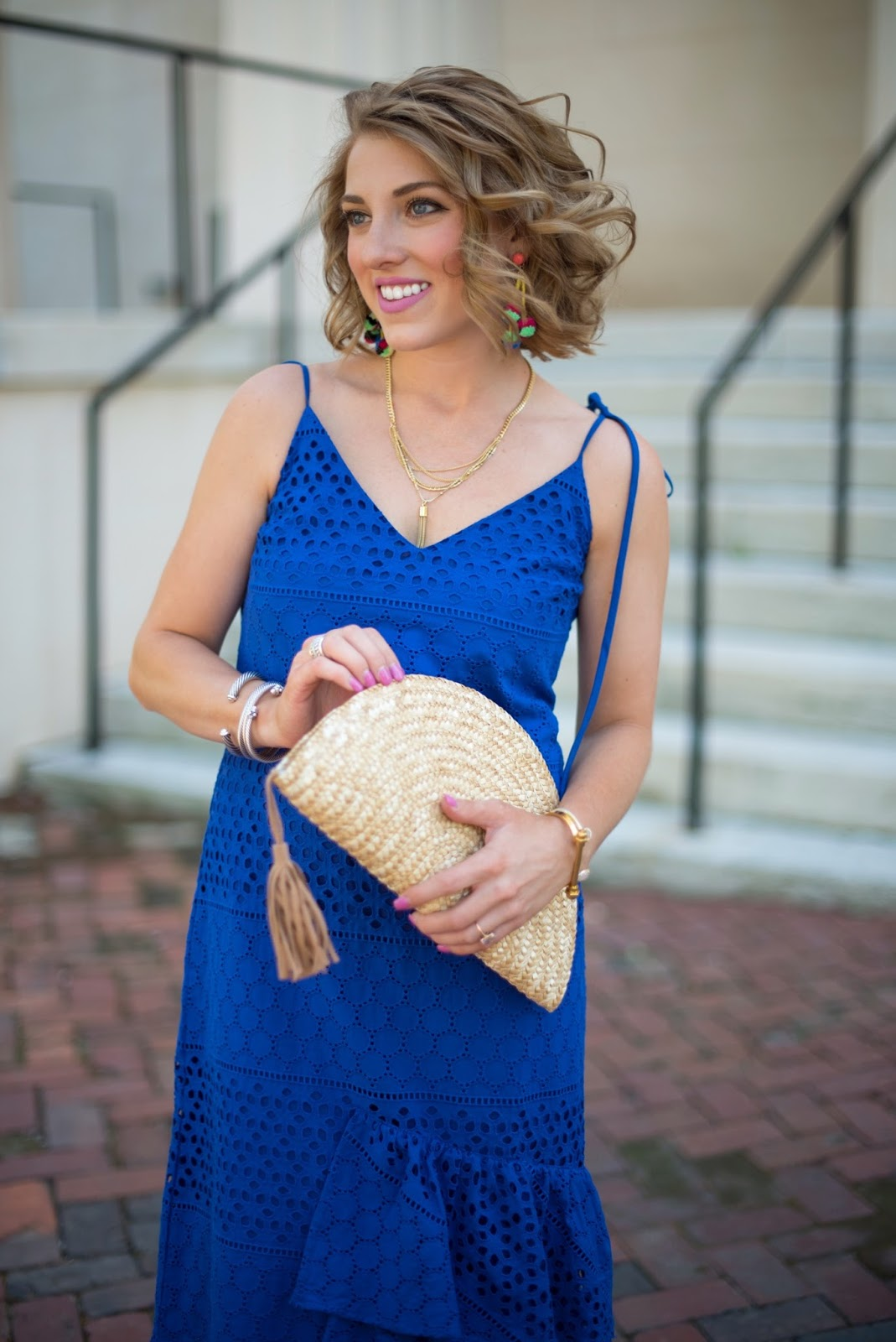 The perfect straw clutch - Click through to see more on Something Delightful Blog