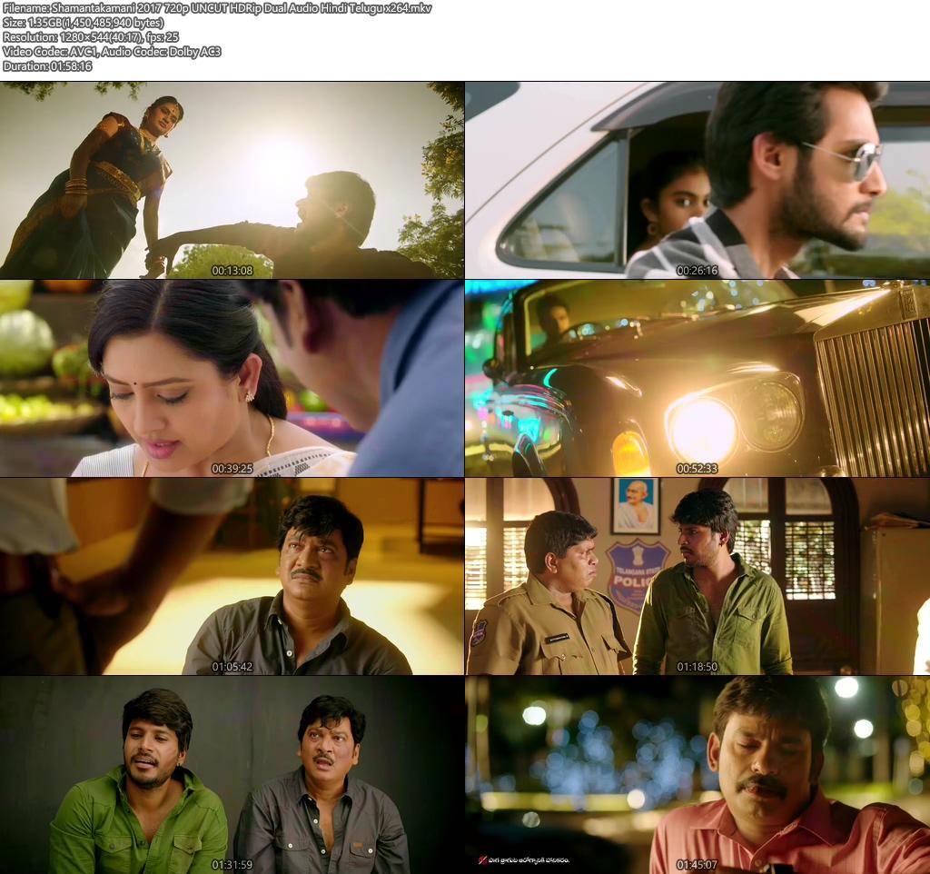 Shamantakamani 2017 720p UNCUT HDRip Dual Audio Hindi Telugu x264 | 480p 300MB | 100MB HEVC Screenshot