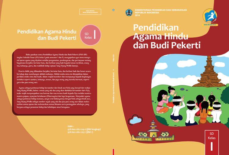 Download Gratis Buku Guru dan Buku Siswa Pendidikan Agama Hindu dan Budi Pekerti SD Kelas 1 Kurikulum 2013 Format PDF