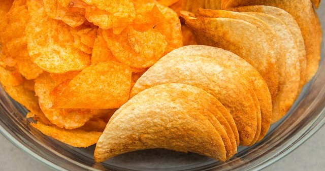Barbecued Potato Chips and Plain Pringle Chips