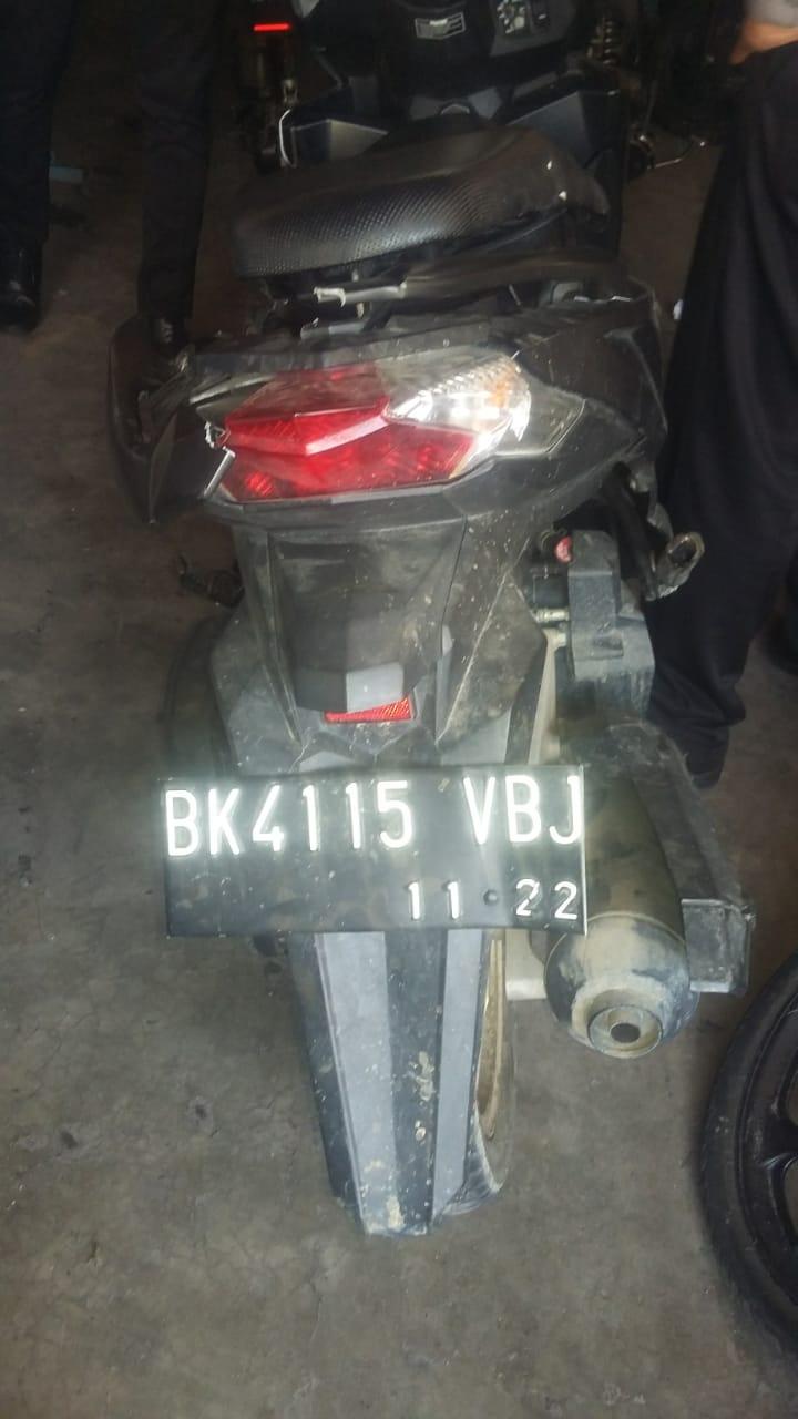 Sepedamotor milik korban lakalantas.