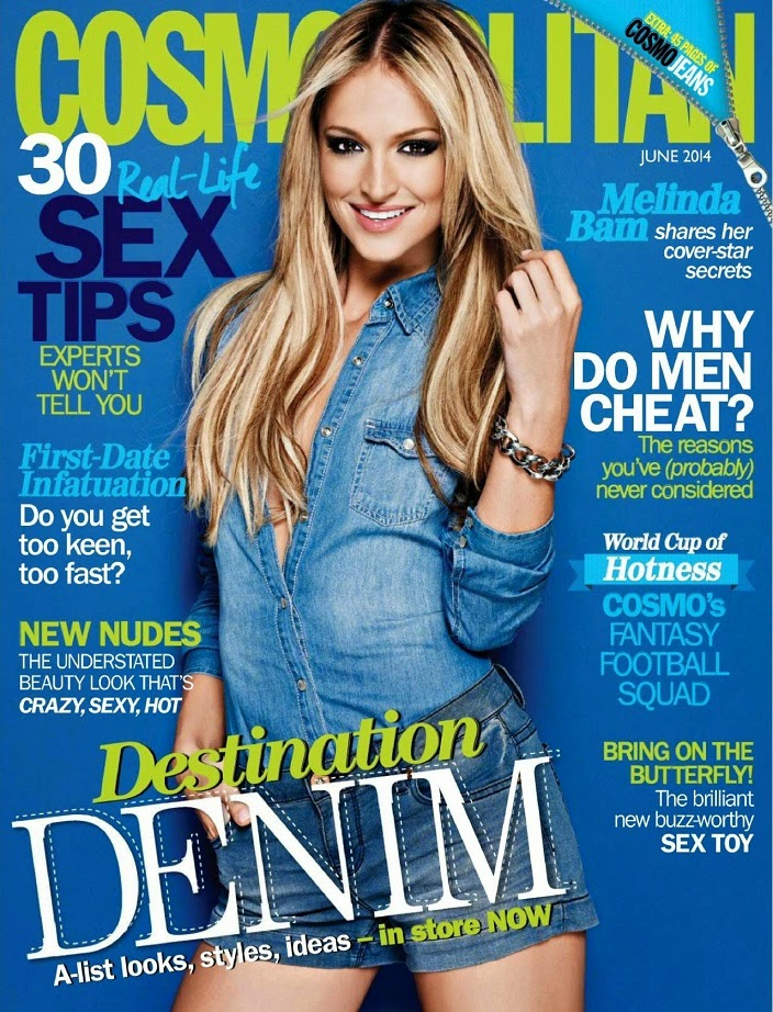 Melinda Bam Covers Cosmopolitan (South Africa) June 2014