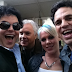"Mark Ruffalo e amigos no set de ""Thanks for Sharing"""