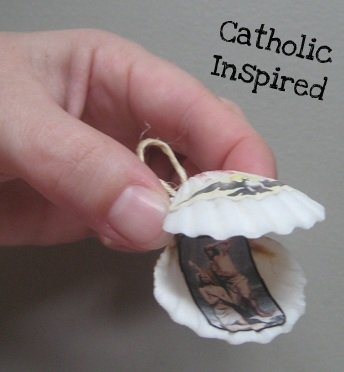 Jesus Baptism John The Baptist Seashell Ornament Catholic Inspired