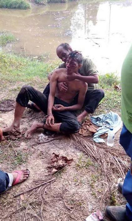 Komando Dipukul, Digari dan Dicampak Dalam Sungai