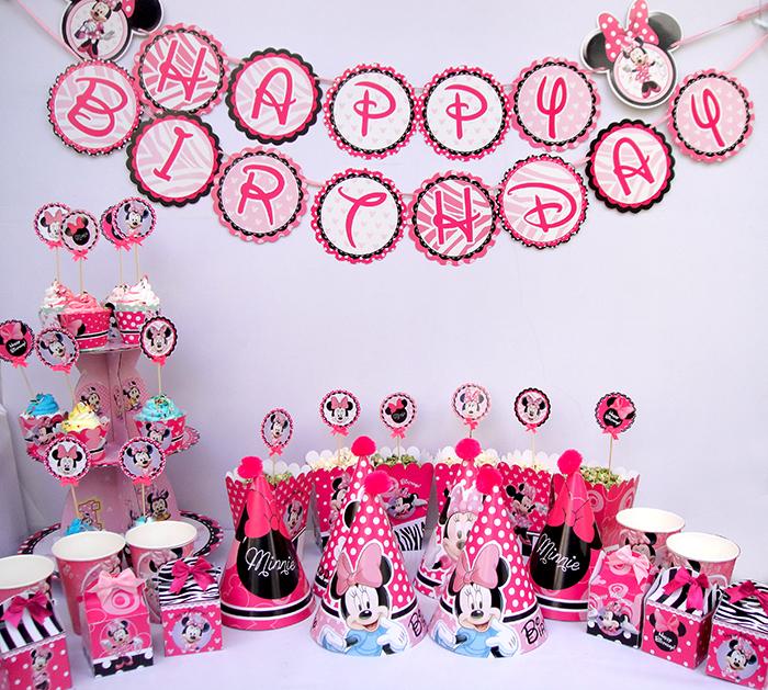Phụ kiện sinh nhật chủ đề minnie giá rẻ